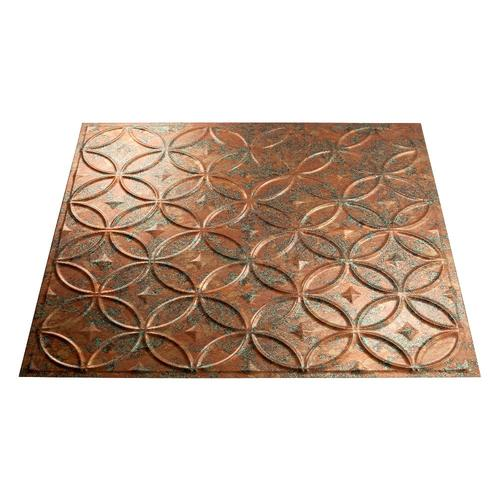 Fasade 174 Copper Fantasy Rings Vinyl Wall Panel 4 X 8 At