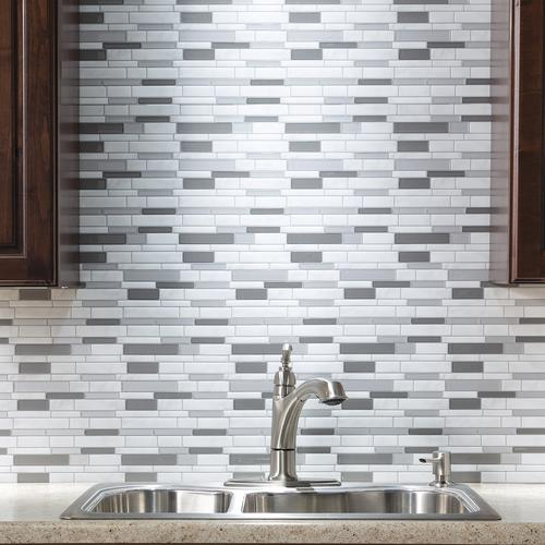 Tack Tile Peel Stick Vinyl Backsplash Tiles 3 Pk At Menards