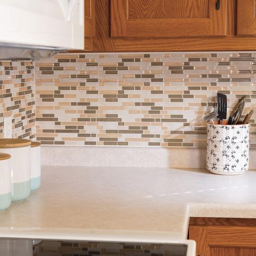 Tack Tile L Stick Vinyl Backsplash At Menards