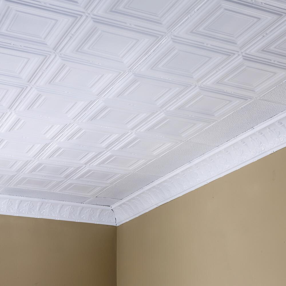 Great Lakes Tin Syracuse 2 X 2 Nail Up Ceiling Tile At Menards