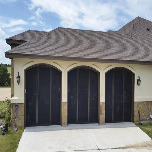 Lifestyle Screens Garage Door Screen With Black Superscreen And
