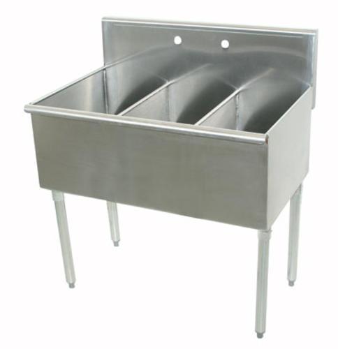 Advance Tabco Utility Sink 16 Gauge Triple Bowl Stainless Steel  Floor  Mount At Menards®