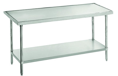 Advance Tabco Work TableNo Drip Edge Gauge Top Stainless Steel - 16 gauge stainless steel work table
