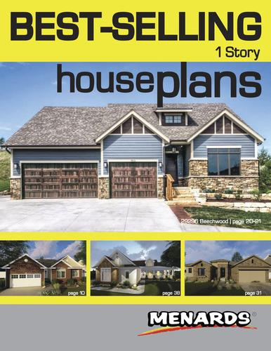 1 Story House  Plans  Book  at Menards