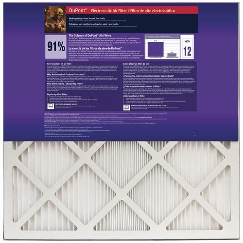 "DuPont® 14"" x 28"" x 1"" Premium 9100 MERV 12 Pleated Air Filter"