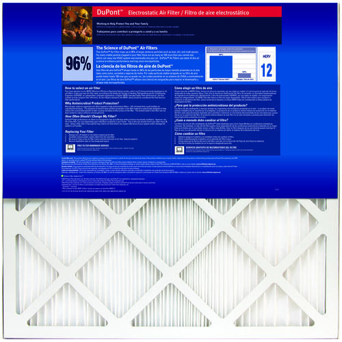 dupont® allergen ultimate 9600 pleated replacement air filter merv ...
