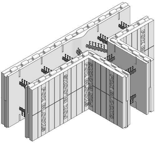 Fox Blocks 8 Quot T Block Insulated Concrete Form At Menards 174