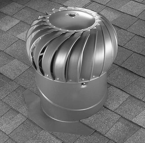 Air Vent 12 Galvanized Roof Turbine Vent Internally Braced With Base At Menards
