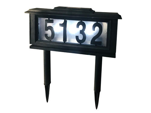 Patriot Lighting Solar Integrated Led Address Sign