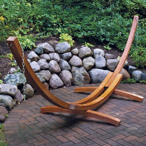 Backyard Creations 14 Wooden Arc Hammock Stand At Menards