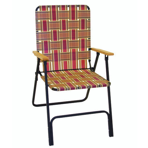 Guidesman™ Deluxe Folding Web Patio Chair With Wood Arms At Menards®