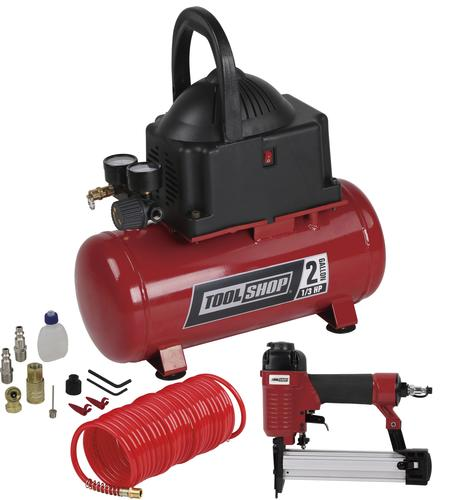 tool shop® 2-gallon air compressor combo kit at menards®
