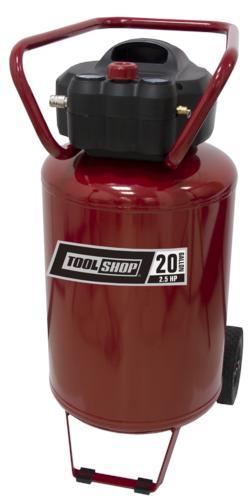 tool shop® 20-gallon portable electric vertical air compressor at ...