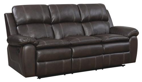 Baltimore Dark Brown Reclining Sofa At Menards®