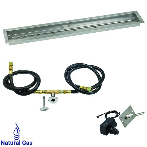 American Fire Glass Linear Channel Gas Fire Pit Burner Kit At Menards