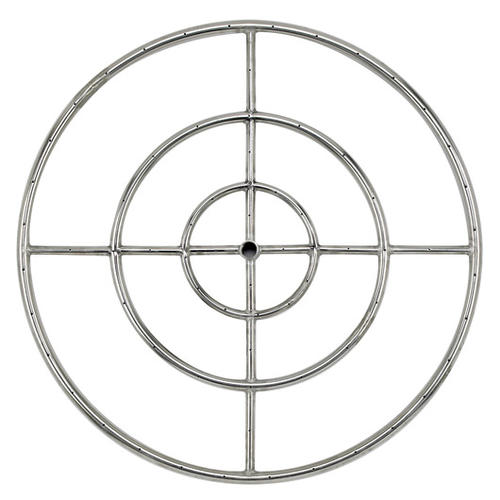 American Fire Glass™ Round Stainless Steel Fire Pit Burner at Menards®
