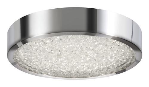 Patriot Lighting Cressa Polish Chrome Integrated Led Flush Mount Ceiling Light At Menards