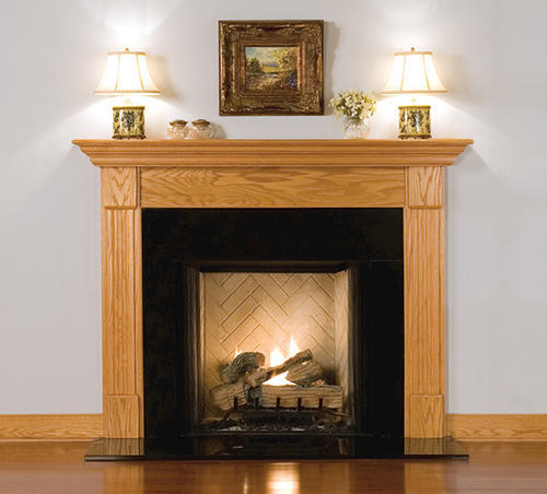 Mantelcraft Madison 72 Oak Unfinished Fireplace Mantel Shelf