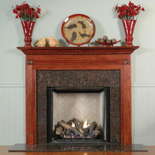 "MantelCraft Gettysburg 48""x42"" Walnut Unfinished Fireplace Mantel"