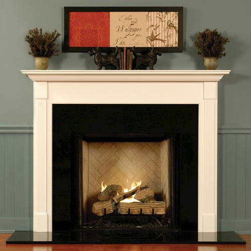 "MantelCraft Greensburg 48""x42"" Walnut Country Pine Fireplace Mantel"