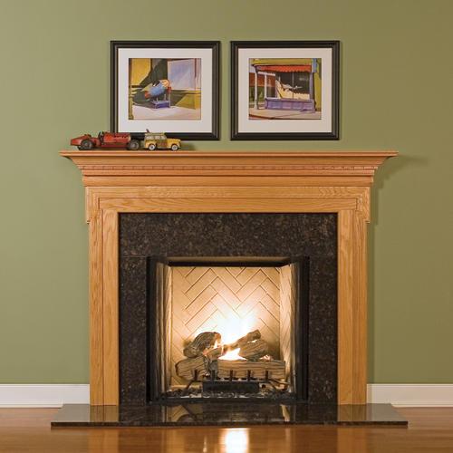 "MantelCraft Nashborough 54""x42"" Walnut Traditional Mahogany Fireplace Mantel"