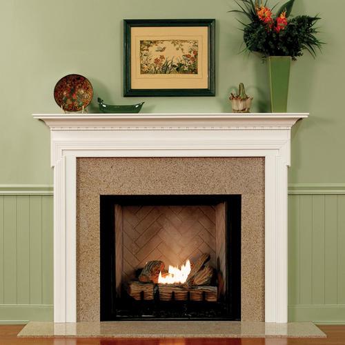 """MantelCraft Somerset 54""""x42"""" Oak Natural Fireplace Mantel"""