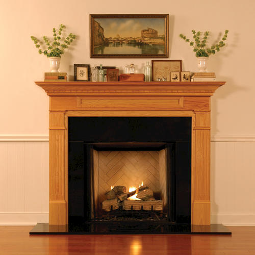 """MantelCraft Mt. Vernon 54""""x42"""" Maple Unfinished Fireplace Mantel"""