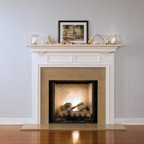 "MantelCraft Williamsburg 54""x42"" Walnut Cinnamon Fireplace Mantel"