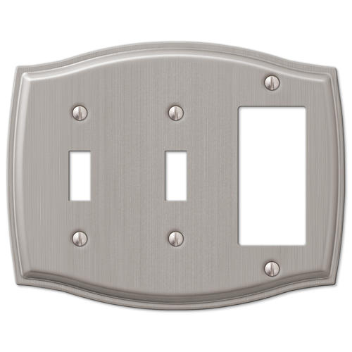 Sonoma Brushed Nickel Stamped Steel 2 Toggle 1 Rocker Wall