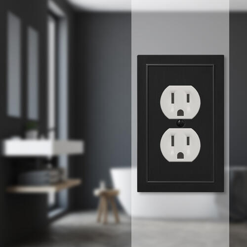 electrical wall plate covers decorative electrical wall.htm amerelle bethany black 1 duplex outlet wallplate at menards    amerelle bethany black 1 duplex outlet