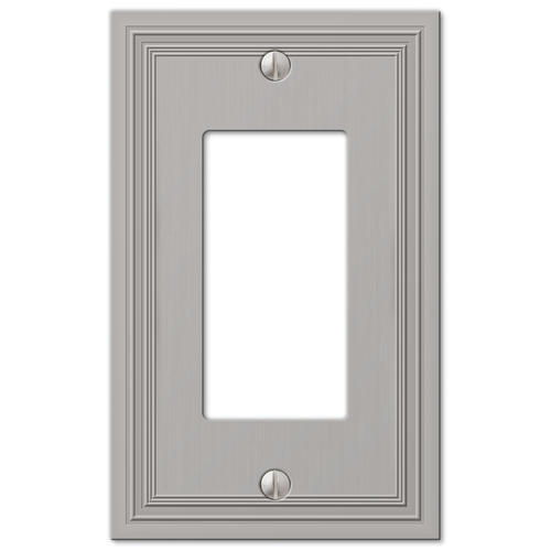 electrical wall plate covers decorative electrical wall.htm daltry satin nickel cast 1 rocker wall plate at menards    daltry satin nickel cast 1 rocker wall