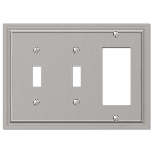 electrical wall plate covers decorative electrical wall.htm daltry satin nickel cast 2 toggle 1 rocker wall plate at menards    cast 2 toggle 1 rocker wall plate