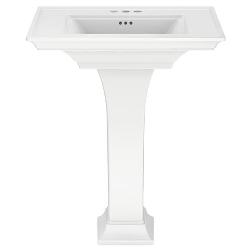 American Standard Town Square S 30 W X 22 1 2 D White Rectangle Bathroom Pedestal Sink With Base At Menards