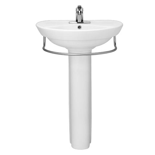 American Standard Ravenna 24 1 4 W X 20 D White Semi Circle Bathroom Pedestal Sink With Base At Menards