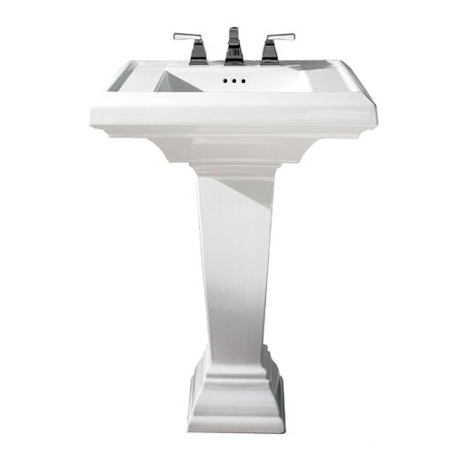 American Standard Town Square 24 W X 20 1 4 D Rectangle Bathroom Pedestal Sink With Base 4 Center At Menards