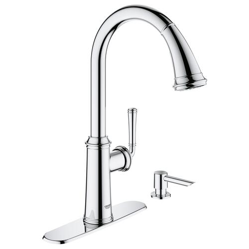 Grohe Gloucester One Handle Pull Down Chrome Kitchen Faucet At Menards