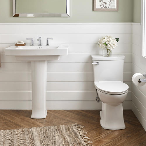American Standard Townsend 30 W X 19 1 2 D Rectangle Bathroom Pedestal Sink With Base 8 Center At Menards