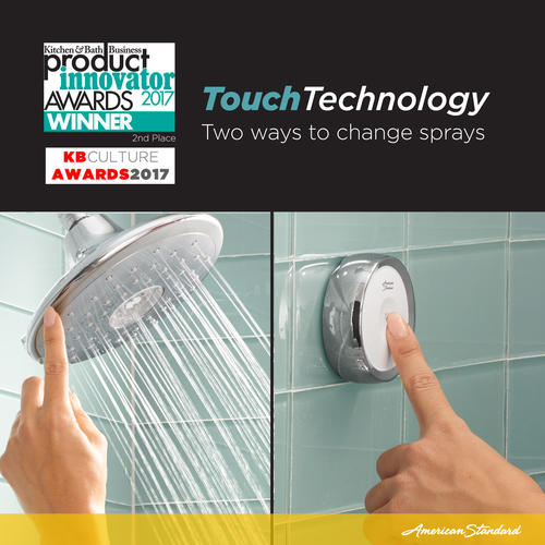 American Standard Spectra Etouch 4 Spray Fixed Mount Showerhead At