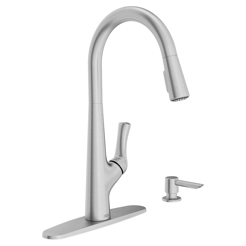 American Standard Copley One Handle Pull Down Stainless Kitchen Faucet At Menards