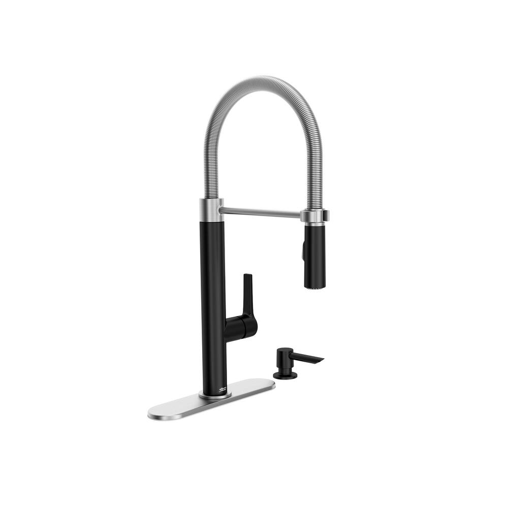 American Standard Cayenne One Handle Pull Down Matte Black Stainless Kitchen Faucet At Menards