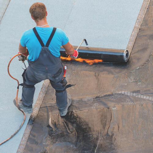 Edilflex Granulated App Torch Down Roofing 100 Sq Ft Coverage At Menards