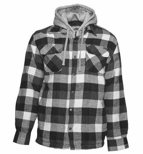 Old Mill Men S Quilted Flannel Hooded Jacket At Menards