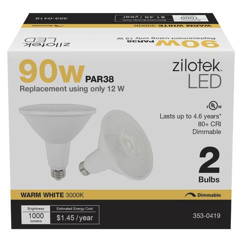 Zilotek 90w Equivalent Par38 Dimmable Led Light Bulb 2
