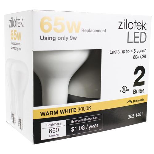 Zilotek 174 65w Equivalent Br30 Led Light Bulb 2 Pack At