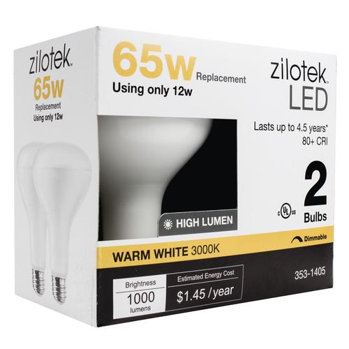 Zilotek 174 65w Equivalent Br30 Dimmable Led Light Bulb 2