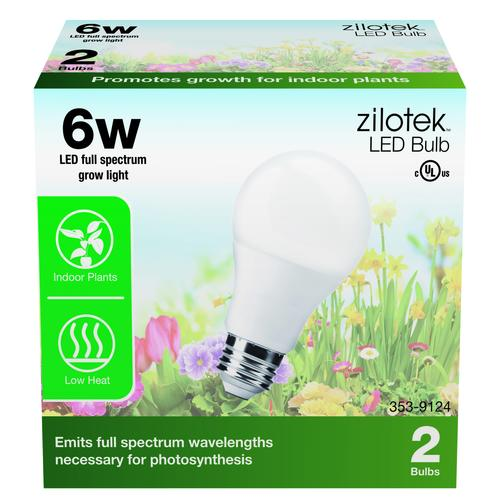 Zilotek 6w Full Spectrum Led Grow Light 2 Pack At Menards
