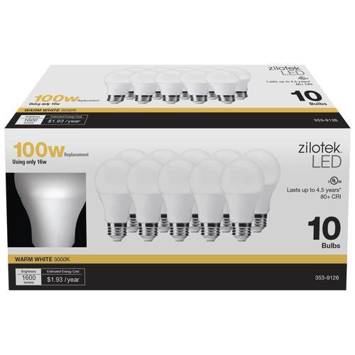Zilotek 174 A19 Led Light Bulb 10 Pack At Menards 174
