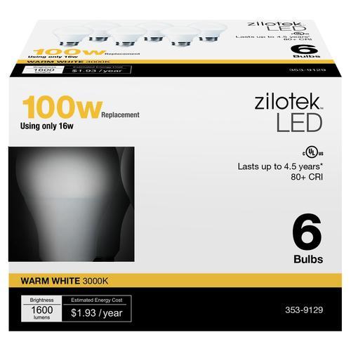 Zilotek A19 Led Light Bulb 6 Pack At Menards 174