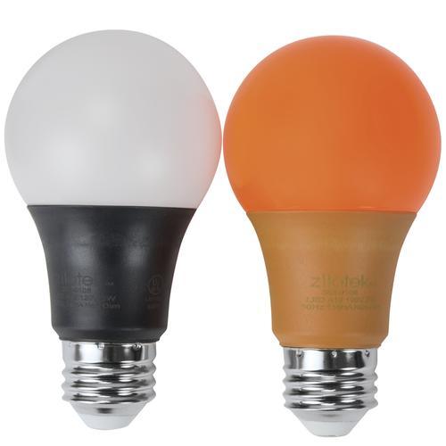 Zilotek 174 40w Equivalent A19 Orange And Black Led Light