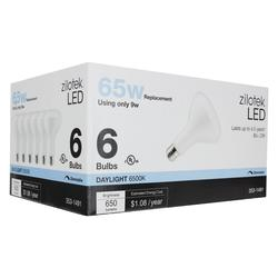 Zilotek 65w Equivalent Br30 Dimmable Led Light Bulb 6